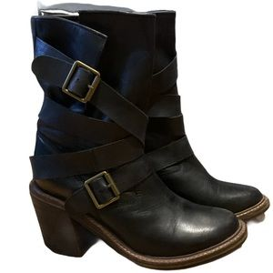Jeffrey Campbell Women's France Wrap Buckle Boot